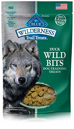 Blue Buffalo Wilderness Trail Treats Wild Bits Grain Free Soft-Moist Training Dog Treats, Duck Recipe 4-oz bag, Model:800068