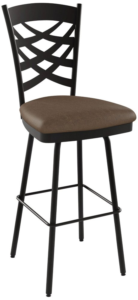 Amisco Nest Swivel Metal Counter Stool with Backrest, 26-Inch, Cobrizo/Amazon Amisco Industries Ltd. 41477-26WE/1B75EAF4