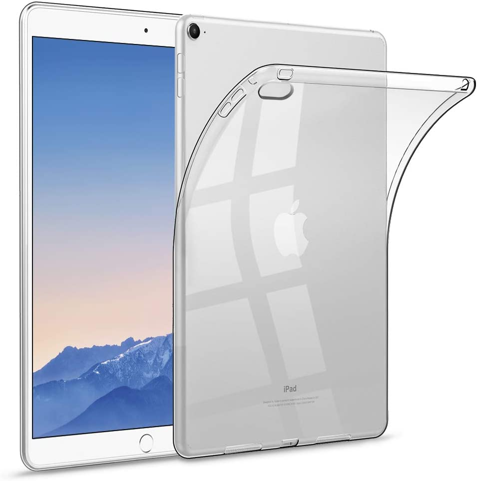 """HBorna Clear Soft Case for iPad Air 2 9.7"""" 2014 Release, Ultra Slim Transparent Silicone Back Cover for iPad Air 2nd Generation"""