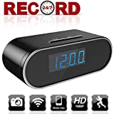 Aurola WIFI Hidden Camera 1080P Spy Camera, Hidden Camera Clock WIFI Spy Camera Clock, Nanny Camera with with Motion Detection Loop Recording for Home and Office Security Surveillance