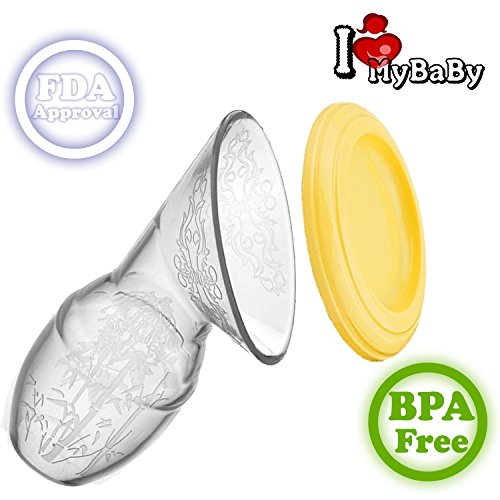 Manual Breast Pump, Portable Silicone Breastfeeding, BPA Free + FDA approved, Very Comfortable Pumping Hand, Milk Pumps, Perfect Suction Breastmilk Milkpump, Super Soft Ergonomic and Easy to use by I♥MyBaBy
