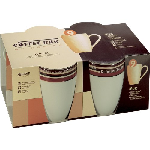 Universal ScanPart Coffee Mugs with Stripes Design Set of 4