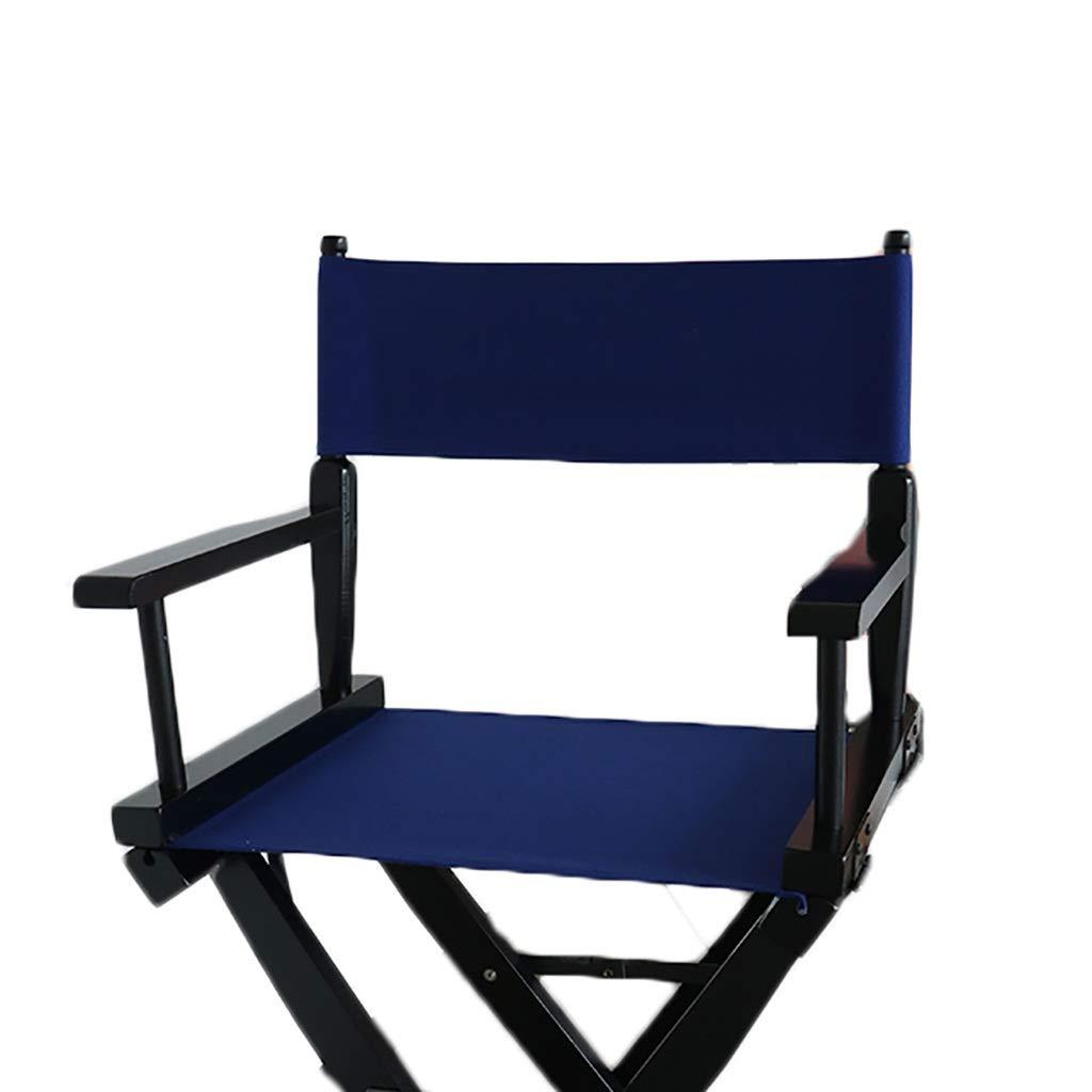 YTYZD Sedie da Regista di Ricambio Sgabello da Seduta in Tela Coprispalle Casual Set 1 Set e 2 Stick Piatto Blu
