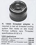 Professional Stant Radiator Tester Adaptor 12023 Cadillac Jaguar Pontiac SAAB