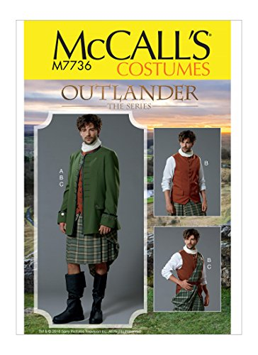 McCall's Patterns M7736 MWW Men's Costume for Outlander: The Series SEWING PATTERN, Size 38-44 (7736)