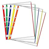 Sheet Protectors Color-Coded Edges 8.5 X 11 Pack of 100 (Assorted)