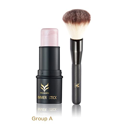 Amazon.com : Shouhengda Highlighter Stick Shimmer Cream Powder Waterproof Light Face Cosmetics A03 : Beauty