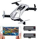 BLACK FRIDAY DEAL! Contixo F8 Foldable Pocket Size Selfie Drone Voice Controls 720P HD Wifi Live FPV Video Camera 360 Stunts 8-10min Fly Time 6-axis Gyro Gravity Control Two Batteries