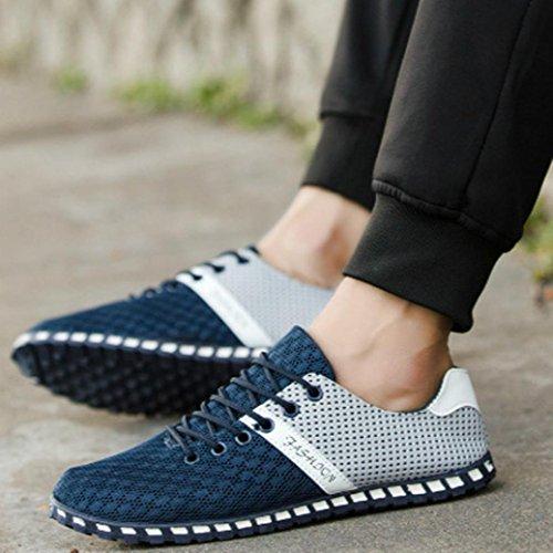 Planos Landfox Hombres la del de de de Malla Transpirables Cómodas Zapatos la Ocasionales Deporte Zapatillas Estilo Azul Manera Nuevos ppAqrwTx