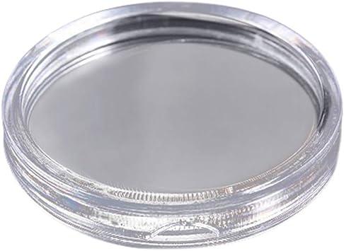 10Pcs 50mm Clear Round Cases Coin Storage Capsules Holder Round Plastic Case  xk