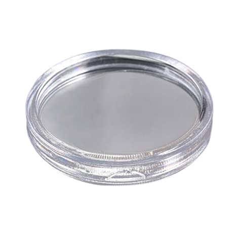 200pcs Clear Round Plastic Coin Capsules Storage Holder Case 38mm and 28mm