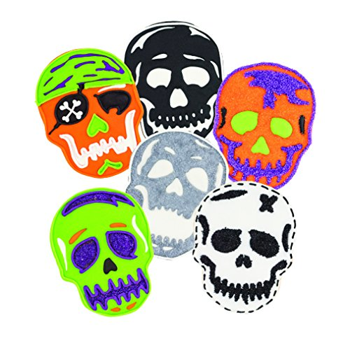 Tovolo 81-22485 Holiday, Templates Reverse, Dishwasher Safe-Set of 6 Skull Cookie Cutter, One, White