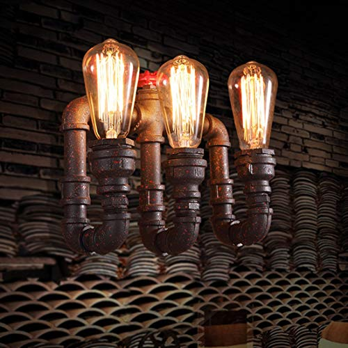 MATCHANT Industrial 3 Head Rustic Water Pipe Wall Light Fixture for loft Apartment Bar by MATCHANT (Image #2)
