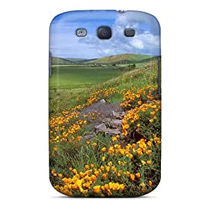 New Arrival Galaxy S3 Cases Grass Nature Yellow Flower Garden Cases Covers