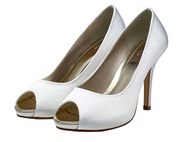 rainbow club wedding shoes ivory or white bridal