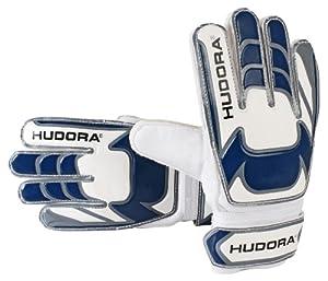 Hudora Unisex - Kinder Torwarthandschuhe, weiß/schwarz/blau, S, 71536/01
