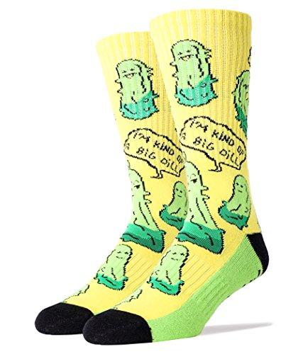 - Men's Athletic Funny Novelty Socks Big Dill