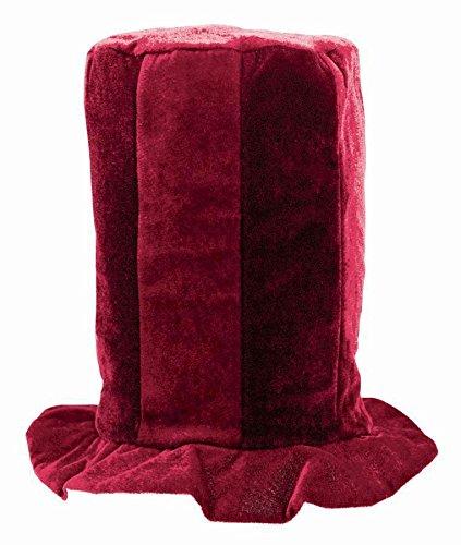 Amscan Tall Top Hat (burgundy) - Tall Hat English