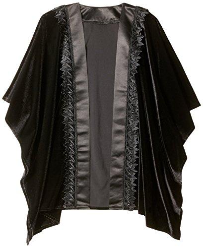 Orchid Row Women's Dressy Velvet and Satin Tuxedo Wrap Black O/S