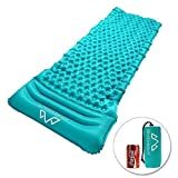 Ultralight Inflatable Sleeping Pad - Portable Air Sleeping mat Camping Mat with Separate-Inflate