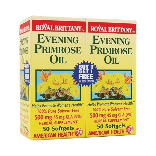 Royal Brittany Evening Primrose Oil (Evening Primrose Oil 500mg Royal Brittany Twin Pack American Health Products 50+50 Softgel)