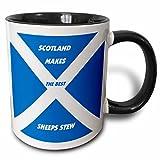 3dRose Florene World Food Flags - Scottish Chefs - 11oz Two-Tone Black Mug (mug_51498_4)