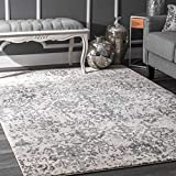 nuLOOM Floral Damask Rosemary Area Rug, 8' x