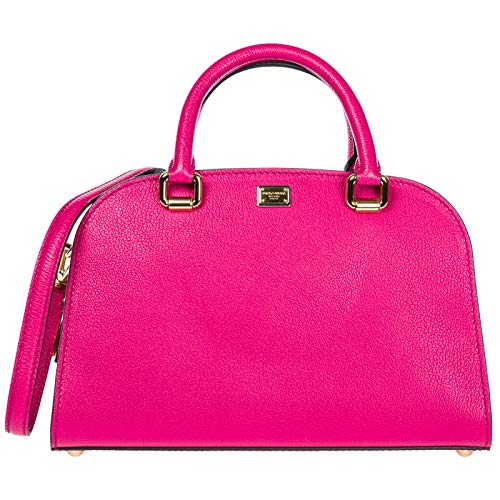 Dolce&Gabbana women's leather handbag shopping bag purse isabella fucsia