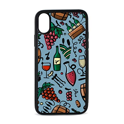iPhone Red Wine Cork Retro Design Taste Stylish Color Digital Print TPU Pc Pearl Plate Cover Phone Hard Case Cell Phone Accessories Compatible with Protective Apple Iphonex/xs Case 5.8 Inch