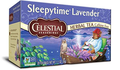 - CELESTIAL SEASONINGS Sleepytime Lavender Herbal Tea, 20 CT