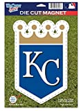 MLB Kansas City Royals 82762012 Die Cut Logo Magnet, Small, Black