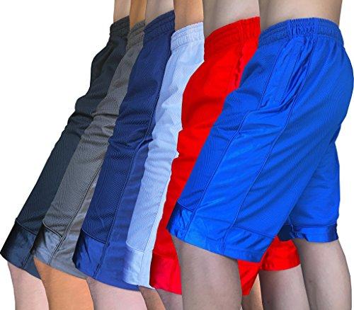 Gs-eagle M0298 Men's Plain Heavy Weight Mesh Basketball Short Pants With Zipper Pocket – DiZiSports Store