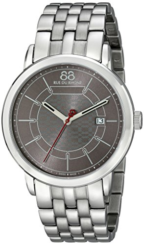 88-Rue-du-Rhone-Mens-87WA140025-Analog-Display-Swiss-Quartz-Silver-Watch
