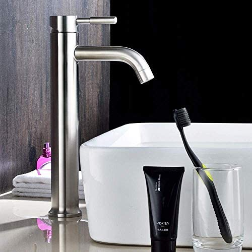 Honana 蛇口, 現代のクロム浴室の洗面台の蛇口金属ブラシホットとコールド洗面アンダーカウンター洗面蛇口バブル水の蛇口セット キッチン蛇口 混合水栓