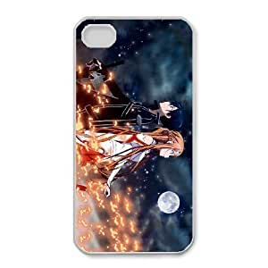 iphone4 4s phone case White Sword Art Online SAO Kirito & Asuna EDA6833543