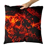 Westlake Art - Fireplace Ember - Decorative Throw Pillow Cushion - Picture Photography Artwork Home Decor Living Room - 18x18 Inch (201F-E1143)