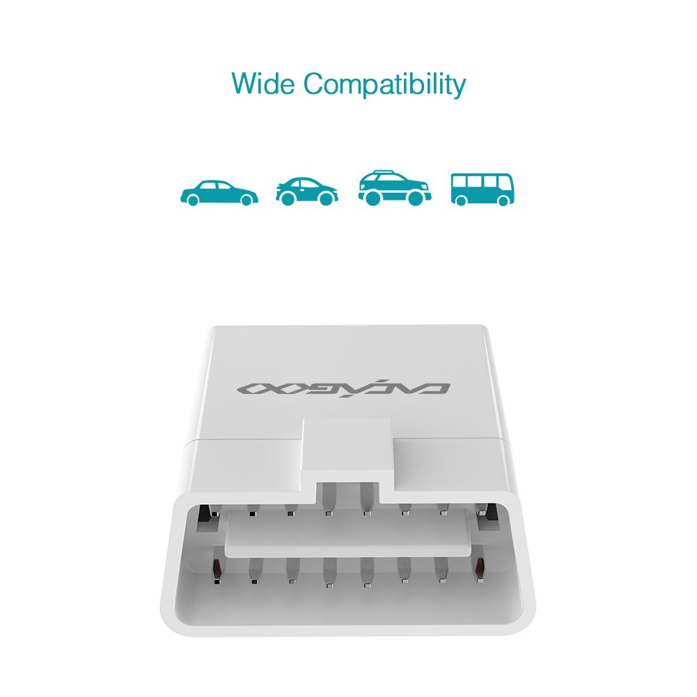cacagoo obd ii escner bluetooth herramienta de diagnstico del motor coche con hud funcin app para android y ios amazones electrnica