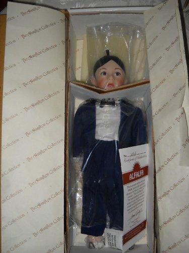 (Alfalfa the Little Rascals Doll MIB 1993 Porcelain Hamilton Collection COA #1935D)
