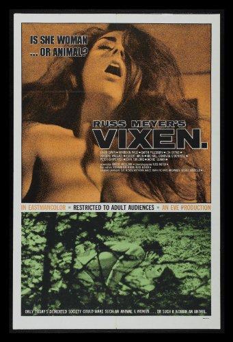 Vixen 1SH Original Movie Poster Russ Meyer 1968