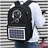 HWZ Solar Panel Backpack Convenience Charging Laptop Bags for Travel Solar Charger Daypacks