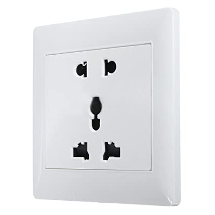 Universal Wall Switch Socket Outlet Panel Dual 4 Holes Switches Outlet 10a 250v Eletrical Power Socket Panel 86*86 Black Electrical Sockets & Accessories