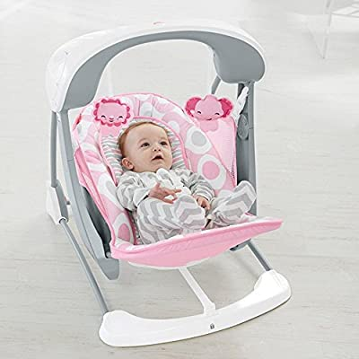 Fisher-Price Deluxe Take-Along Swing & Seat - Pink