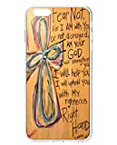 UKASE Back Cover Snap on Case for 5.5 inch iPhone 6 Plus with Inspiration Bible Sayings Fear Not, For I am with You Be Not Dismayed, I am Your God, I Will Help You, I will Uphold You with My Righteoud Right Hand