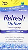 Refresh Optive Lubricant Eye Drops, Box of 2 x 15 ml bottles Pack of 4