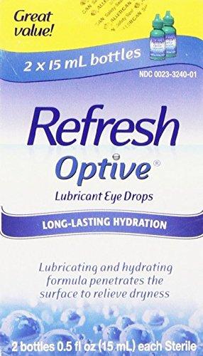 Refresh Optive Lubricant Eye Drops, Box of 2 x 15 ml bottles Pack of 4