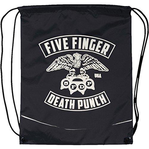 [해외]다섯 손가락 죽음의 펀치 이글 drawstring 배낭 블랙/Five Finger Death Punch Eagle Drawstring Backpack Black