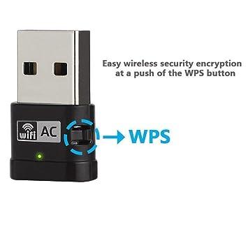 600Mbps Adaptador USB inalámbrico , Amplificador WIFI amplificador WIFI de doble banda, mini enrutador, dongle USB de alta velocidad con soporte para WPS, ...