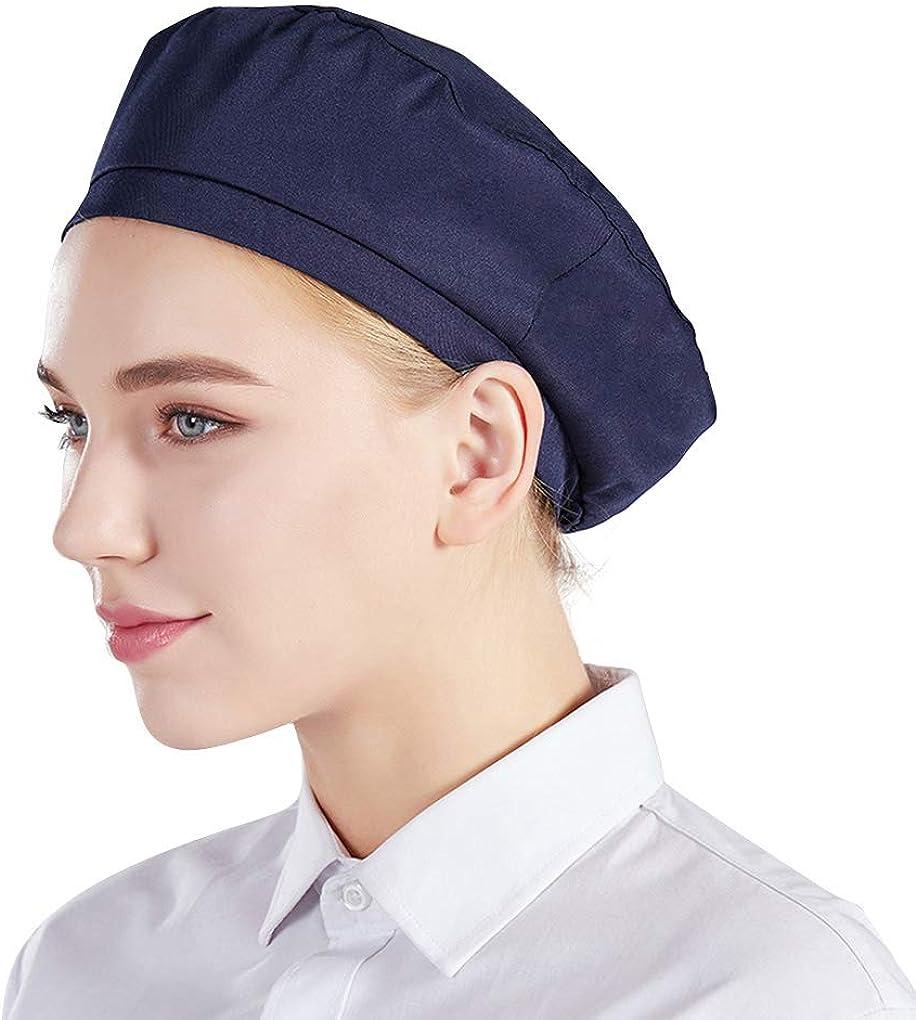 Nanxson 3Pcs Unisex Chef Hat Adjustable Elastic Baker Kitchen Cooking Chef Cap CF9043
