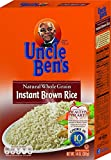 uncle ben brown rice - UNCLE BEN'S Whole Grain Instant Brown Rice, 14oz