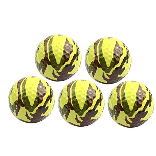 MarketBoss 5 PCS Camouflage Golf Ball Green Novelty Golf Balls Gift Sports Practice Training Playing Golf ()